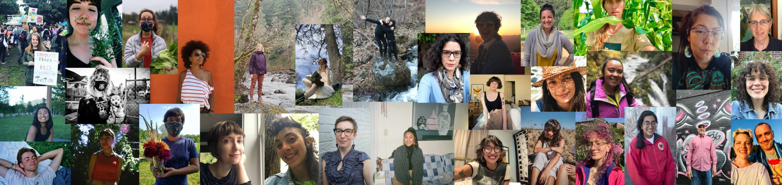 Collage of artists