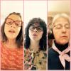 screenshot of Heather, Jenny, and Marina singing Ella's song
